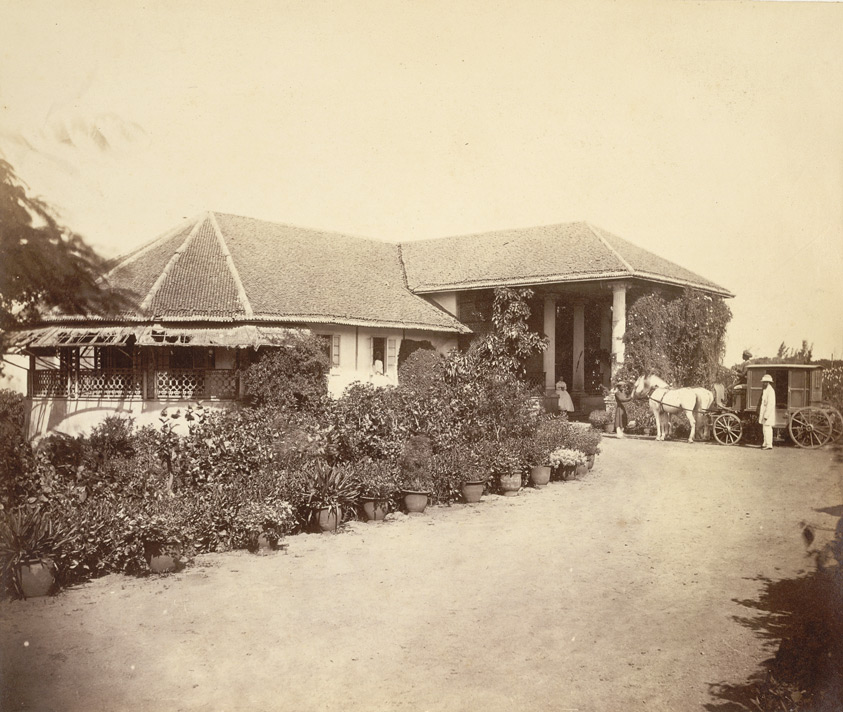 A small bungalow, Malabar Hill, Bombay.